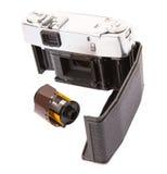 Viejos cámara y carrete de película análogos VIII Imagen de archivo libre de regalías