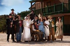 Viejos caracteres del oeste Foto de archivo