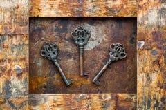 Viejos claves Foto de archivo libre de regalías