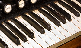 Viejos claves del piano Fotografía de archivo