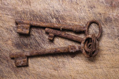 Viejos claves en el vector de madera. Imagenes de archivo