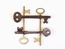 Viejos claves en un cuadrado Foto de archivo
