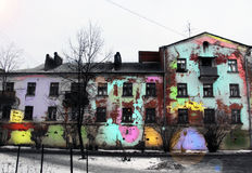 Viejos colores pintados caseros Fotos de archivo