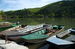 Viejos combates en el lago fotografía de archivo libre de regalías