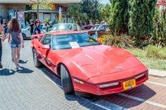 Viejos deportes Chevrolet en una exposición de coches viejos en la ciudad de Karmiel Fotografía de archivo
