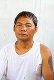 Viejos desamparados asiáticos del hombre foto de archivo libre de regalías