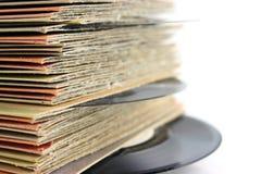 Viejos expedientes de vinilo imagen de archivo libre de regalías