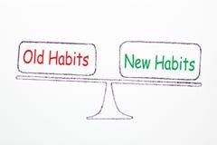 Viejos hábitos y nuevos hábitos ilustración del vector