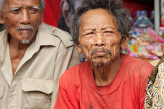 Viejos hombres del Balinese Imágenes de archivo libres de regalías
