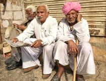 Viejos hombres medio, Jaisalmer, la India Imagen de archivo libre de regalías