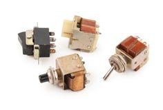 Viejos interruptores Imagenes de archivo