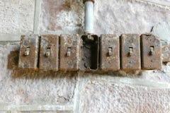 Viejos interruptores de la luz Imagen de archivo libre de regalías