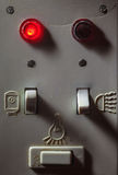 Viejos interruptores del cuarto de baño Fotos de archivo libres de regalías