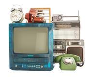 Viejos items del hogar Imagen de archivo libre de regalías