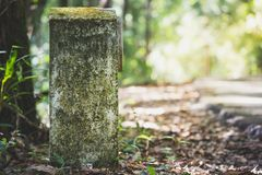 Viejos kilómetros de marcador Foto de archivo