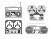 Viejos magnetófonos Imágenes de archivo libres de regalías