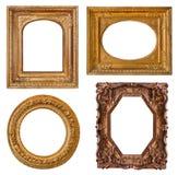 Viejos marcos de oro de la colección Foto de archivo