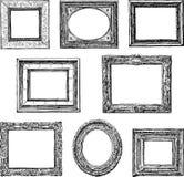 Viejos marcos decorativos Foto de archivo libre de regalías