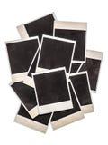 Viejos marcos inmediatos de la foto aislados en fondo Fotos de archivo