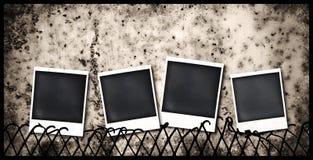 Viejos marcos polaroid Fotografía de archivo libre de regalías