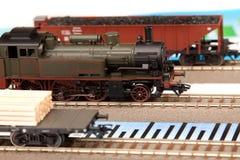 Viejos modelos locomotores en gráficos fotos de archivo