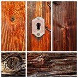 Viejos motivos secados al sol de madera y de la madera Fotografía de archivo