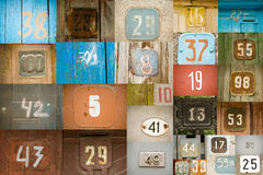 Viejos números Foto de archivo libre de regalías
