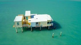 Viejos nstilts abandonados Miami FL Stiltsville de la casa o Foto de archivo