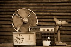 Viejos objetos de 70-90 años Fotografía de archivo libre de regalías