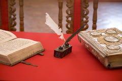 Viejos objetos de la escritura Foto de archivo
