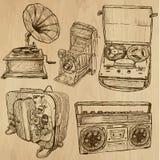 Viejos objetos ningunos 4 - colección dibujada mano Imágenes de archivo libres de regalías