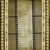 Viejos papeles y filmstrip del grunge imagenes de archivo