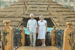Viejos pares el vacaciones fotografía de archivo