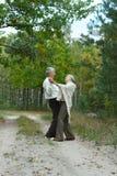 Viejos pares en el parque Fotos de archivo