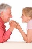 Viejos pares felices Foto de archivo libre de regalías