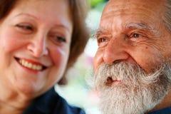 Viejos pares felices Fotografía de archivo