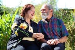 Viejos pares felices Fotos de archivo
