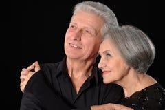 Viejos pares sonrientes felices Fotografía de archivo libre de regalías