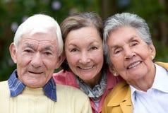 Viejos pares y su hija Imagenes de archivo