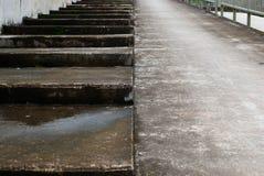 Viejos pasos concretos Fotografía de archivo libre de regalías