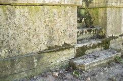 Viejos pasos cubiertos de musgo que llevan Fotos de archivo libres de regalías