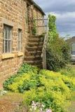 Viejos pasos de piedra, North Yorkshire Fotos de archivo libres de regalías