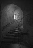 Viejos pasos de progresión del castillo Imagen de archivo