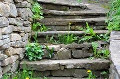 Viejos pasos medievales Foto de archivo libre de regalías