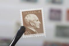 Viejos sellos de Jamaica Imagen de archivo libre de regalías