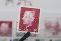 Viejos sellos de Mónaco Fotografía de archivo