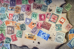 Viejos sellos del vintage Imagen de archivo libre de regalías