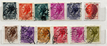 Viejos sellos italianos Foto de archivo libre de regalías