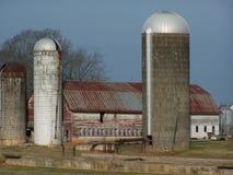 Viejos silos Foto de archivo libre de regalías