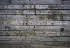 Viejos tableros con los clavos oxidados Imagenes de archivo